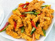 Рецепта Мариновани пилешки пръчици от бонфиле (бон филе) панирани с корнфлейкс